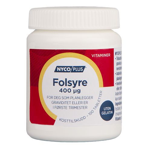 Forpakning Nycoplus Folsyre