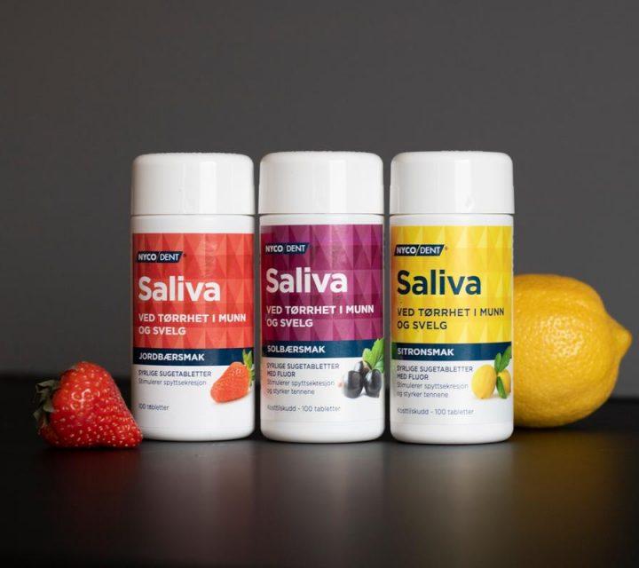 Saliva - ved tørrhet i munn og svelg