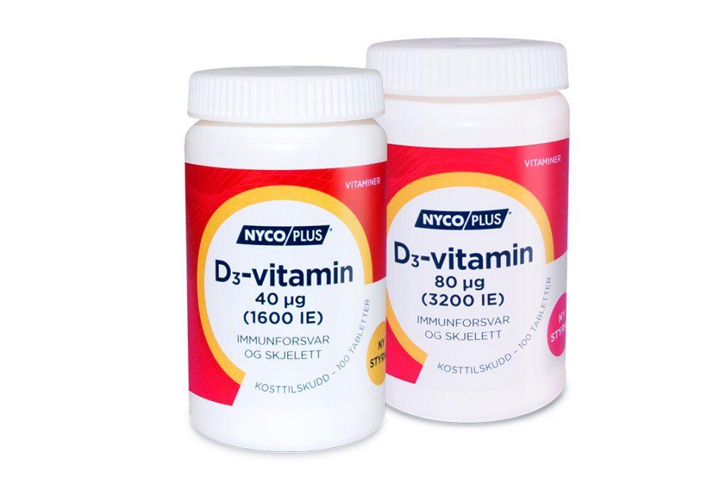 D-vitamin - anbefaling og sikkerhet