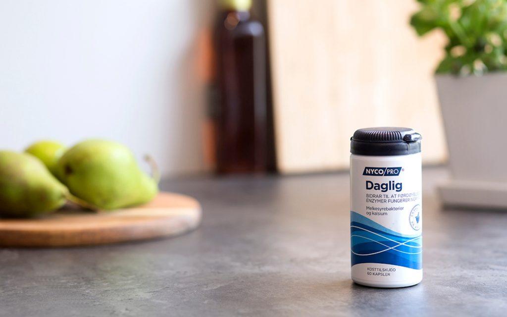 Nycopro Daglig er et tilskudd som bidrar til at fordøyelsesenzymene i kroppen fungerer normalt.