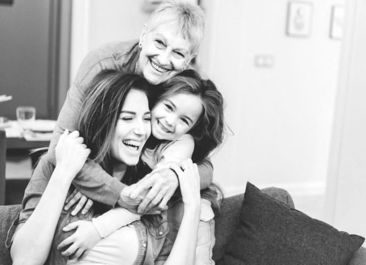 Tre generasjoner med kvinnner
